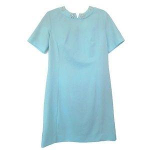 1960s vintage blue dress size large 10 12